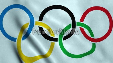 olympische spiele fahnenschwingen