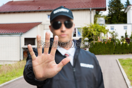 security guard machen stoppschild