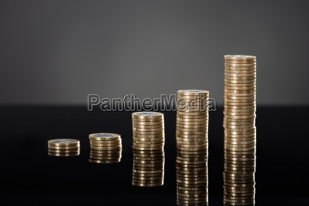 stack of coins in a row