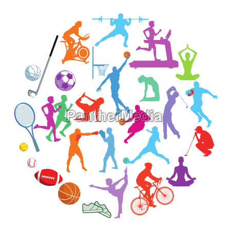 sport illustration kollektion isoliert