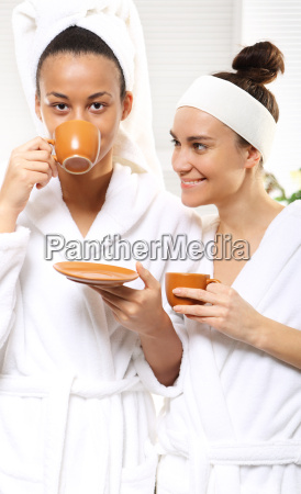 relax in the beauty salon coffee