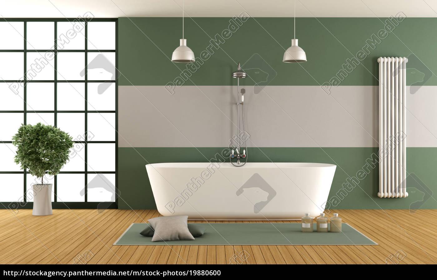 Lizenzfreies Foto 19880600 - zeitgenössisches grünes und graues badezimmer
