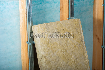 home insulation attic renovation with rock
