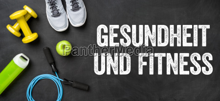 fitnessausruestung auf dunklem hintergrund gesundheit
