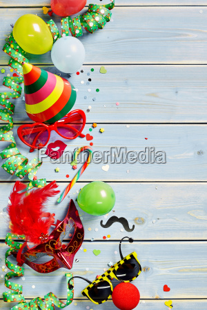 carnival or mardi gras objects on