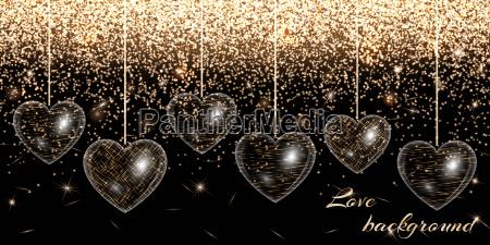 heart gold glitter