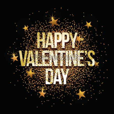 valentines day golden glitter background banner