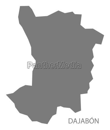 dajabon dominikanische republik karte grau