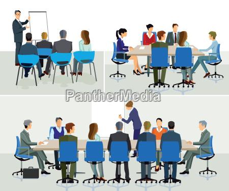 business seminarspeaker with presentation