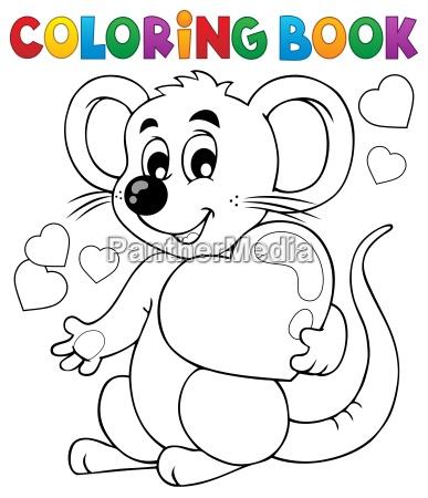 coloring book valentine topic 1