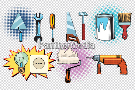 home tools und elektrik pop art