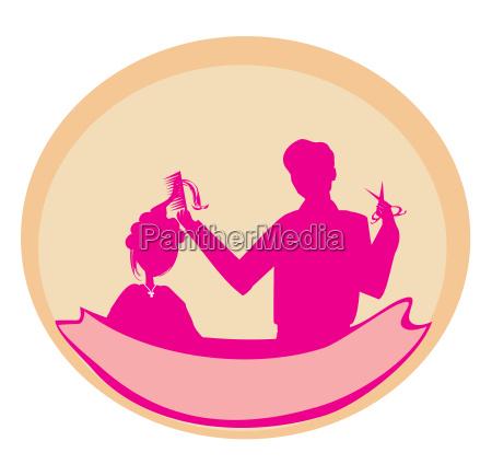 hairstylist symbol