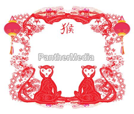 chinesische tierkreiszeichen affe