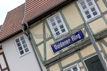 town center of gardelegen with half