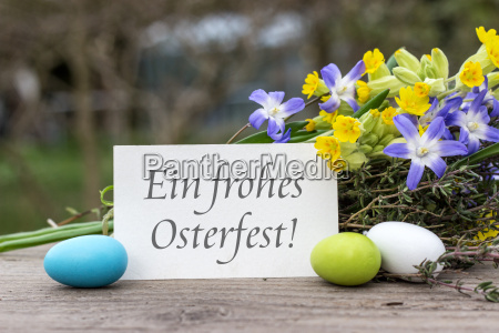 german language greeting card for easter