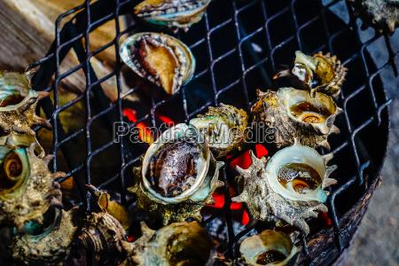 gegrillte turban schalen in meeresfruechte shop
