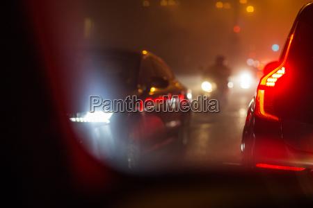 eveningnight city car traffic cars