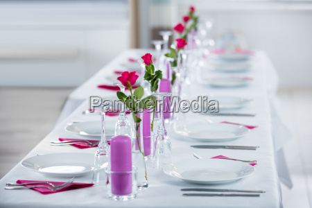 wedding setting with flower