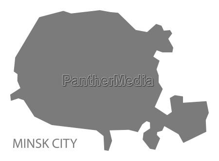 stadt minsk weissrussland karte grau