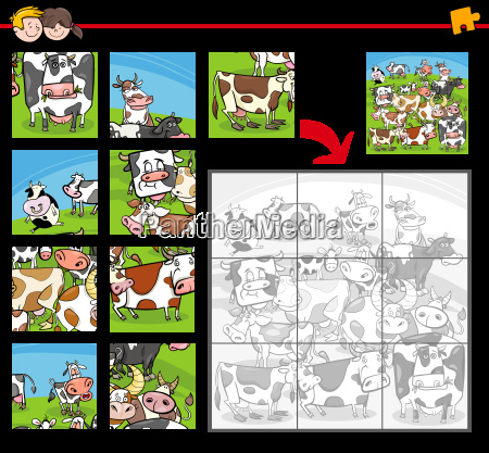 jigsaw puzzle cartoon activity