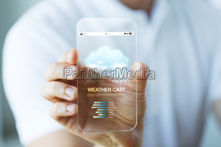 close up of hand with weather