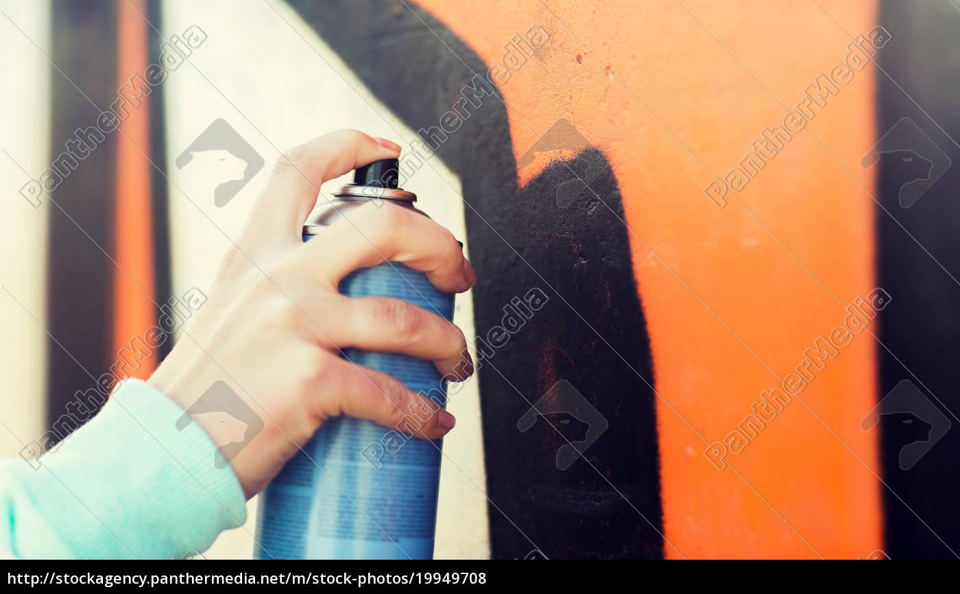 nahaufnahme, von, hand, zeichnung, graffiti, mit - 19949708