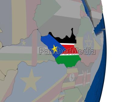 fahrt reisen politisch afrika illustration fahne