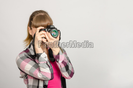 portrait of a girl the photographer