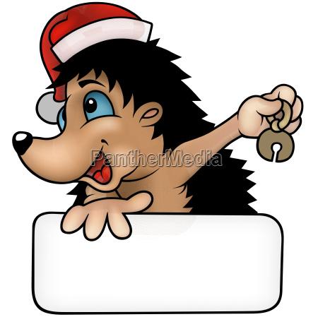 happy christmas hedgehog