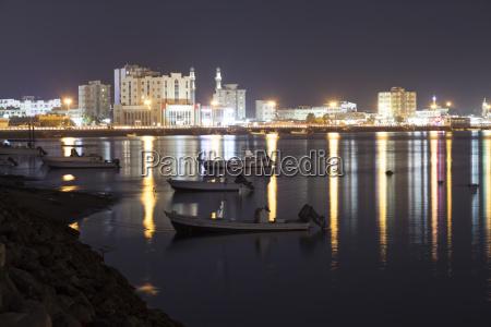 ras al khaimah at night