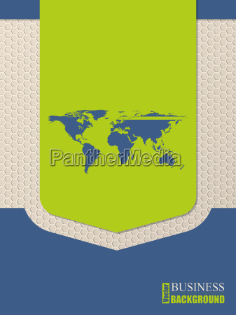 flat style world map brochure design