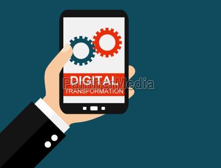 digital transformation auf dem smartphone