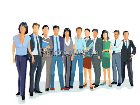 group of businessmen and women business