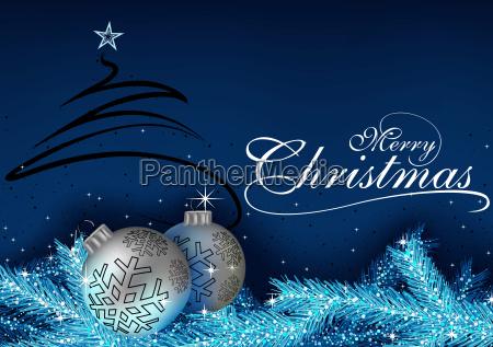 blauer weihnachtsgruss