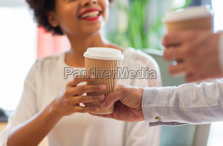 close up of happy woman hand