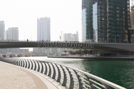dubai city center with skyscrapers and
