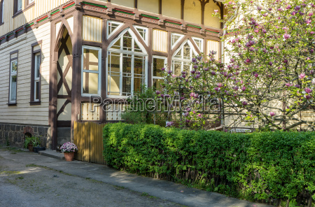 half timbered house in wernigerode with