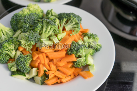 plate of fresh raw vegetables