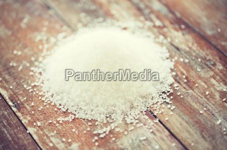 close up of white salt heap