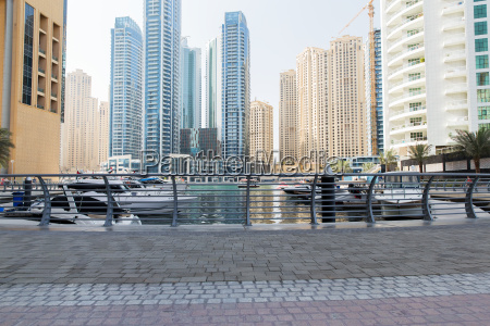 dubai city seafront or harbor with