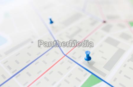 nahaufnahme von karte oder stadtplan mit