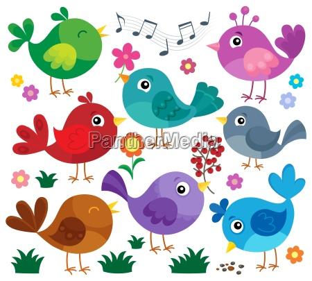 stylized birds theme set 1