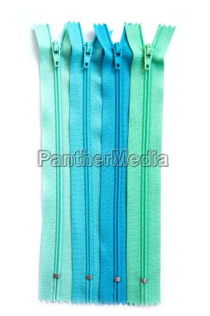 clothing zipper pastel set isolated on