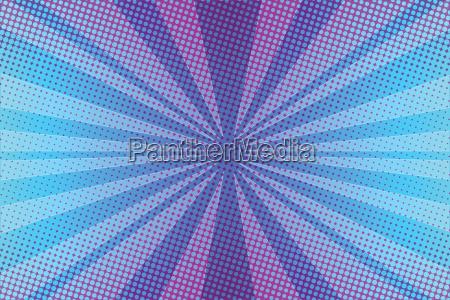 violet rays pop art background