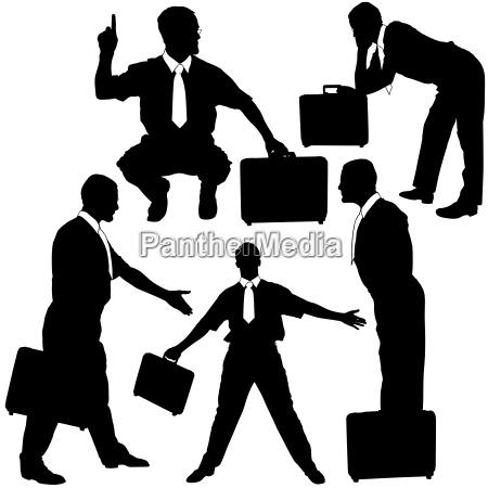 businessman silhouettes