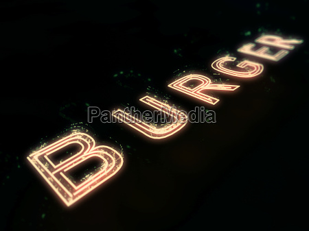burger bar neon sign isolated on