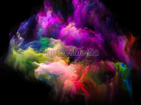 unfolding of fractal brush