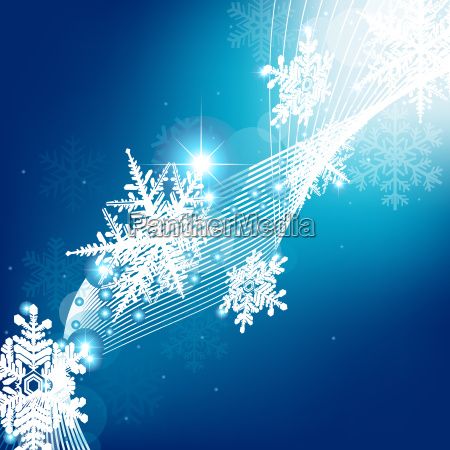 blue winter christmas background