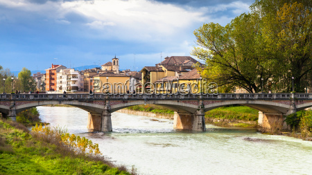 stream and ponte verdi bridge in