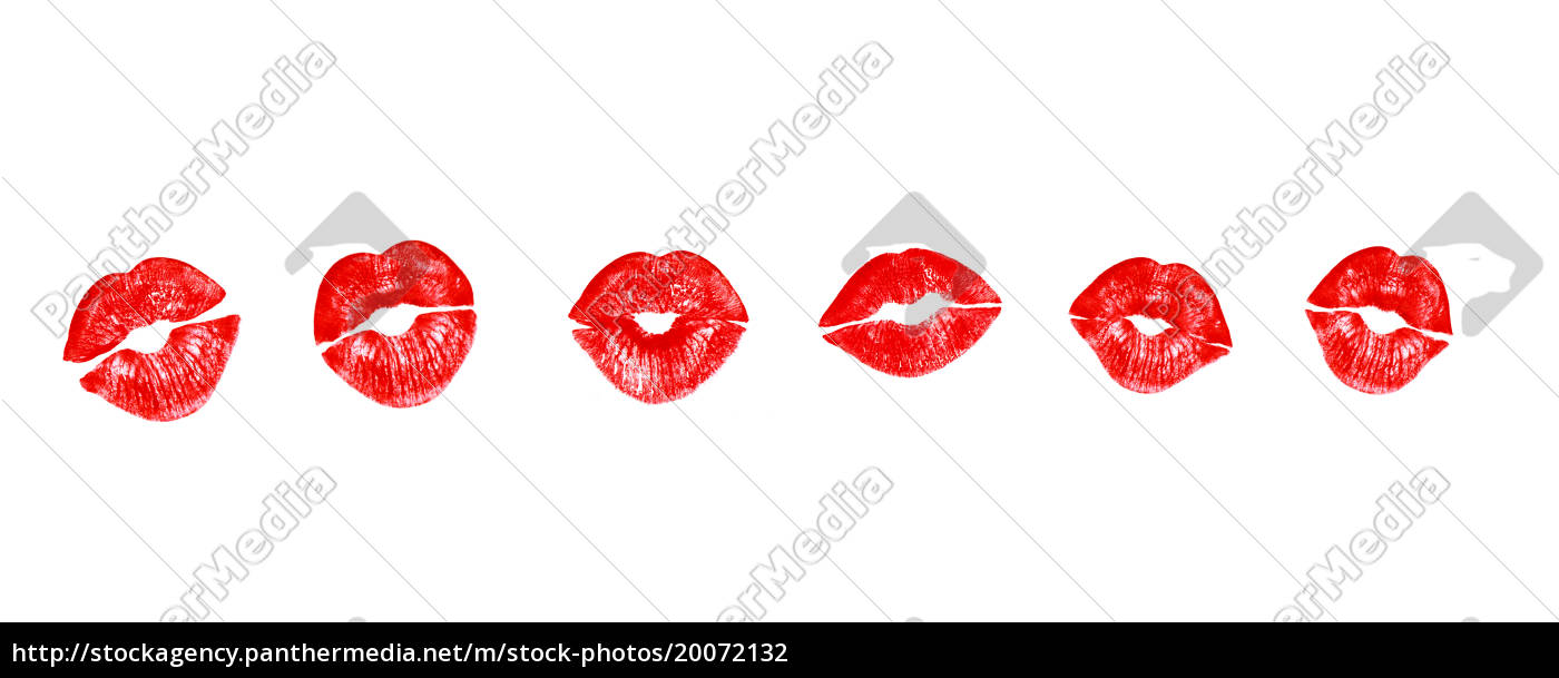 lipstick, kisses, in, red, , realistic - 20072132